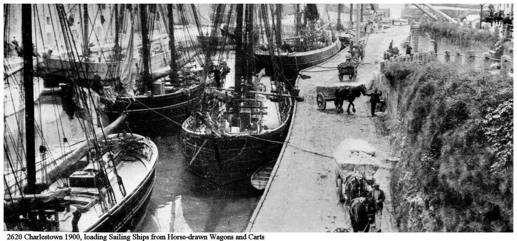 2620 Charlestown 1900, loading Sailing Ships from Horse-drawn Wagons and Carts